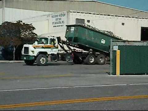Waste Management Gabreath Roll Off Mack Dm600 Trash Truck