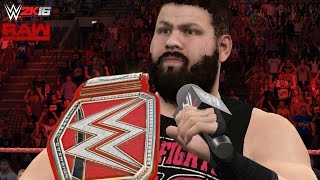 WWE 2K16-15 RAW Custom Scenario: Kevin Owens enters as Universal Champion! (Team JeriKO implodes!)