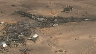 Aerial footage of 7K9268 A321 crash site