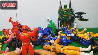 anh em siêu nhân tổng hợp loạn chiến vui - power rangers toy funny war - đồ chơi cho bé