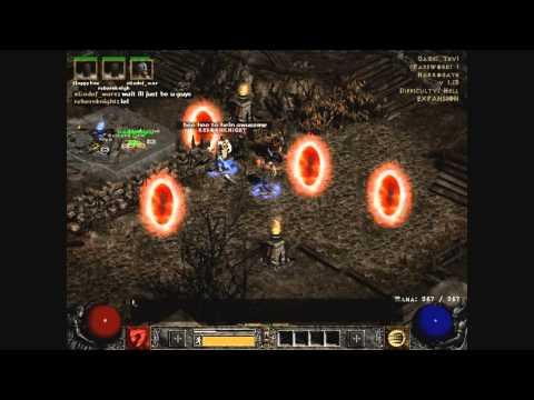 Diablo 2 Auradin Uber Level Runthrough