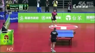 El partido de ping pong mas entretenido