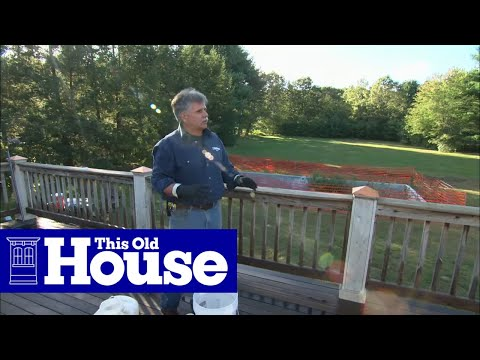 How to Clean and Restain a Deck - This Old House