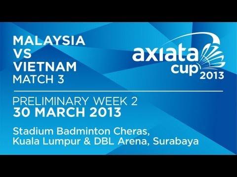 Round 2 - XD - Tan B.H./Lim Y.L. (MAS) vs Duong B.D./Thai Thi H.G. (VIE) - Axiata Cup 2013