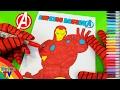 SuperHeroes Spiderman Colors In Ironman Avengers Coloring Book ToyfunTV mp3