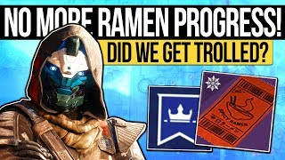 Destiny 2 | NO MORE RAMEN QUEST STEPS! Second Quest Step Mystery & Did We Just Get Trolled?