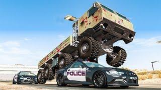 Police Car Chases #22 - BeamNG DRIVE | SmashChan