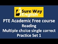 PTE Multiple Choice Single Answer Practice Questions With Answers And Explanations PTE Reading mp3