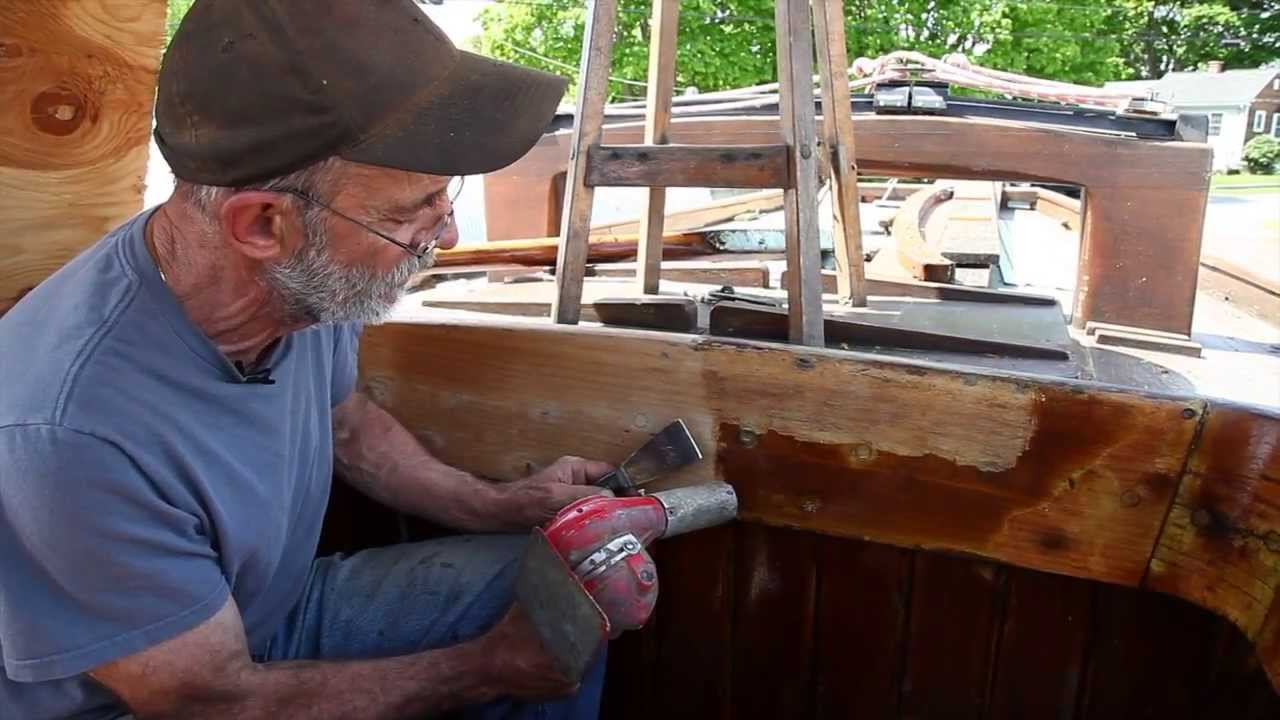 stripping and sanding varnish with a heat gun to prep for new coats youtube. Black Bedroom Furniture Sets. Home Design Ideas