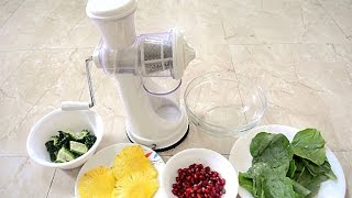 Does It Work? Fruit and Vegetable Hand Juicer