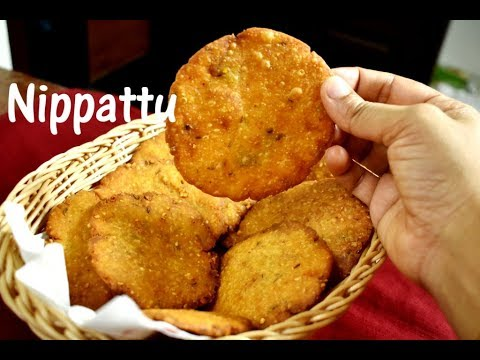 Nippattu recipe | Thattai recipe | Rice crackers recipe