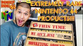 Unboxing One Of The Rarest Nintendo 64 Products - Donkey Kong 64 Promo Box