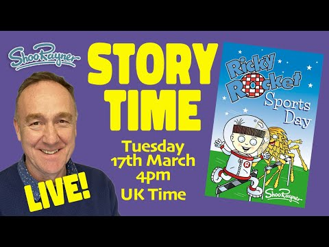 Story Time LIve #1 - Ricky Rocket - Sports Day Story and Drawing