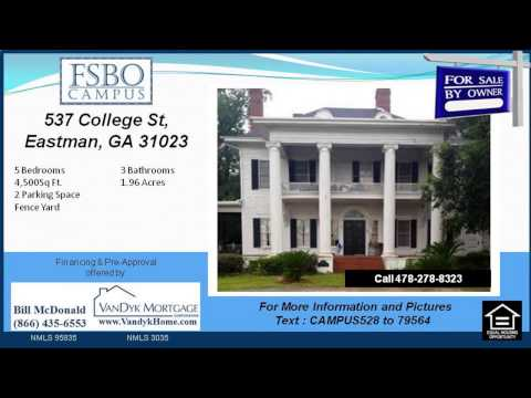 5 bedroom house for sale near Dodge County High School in Eastman GA