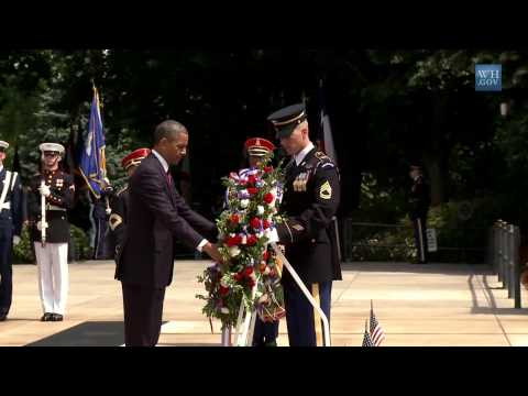 Memorial Day 2013: President Lays Wreath At Arlington