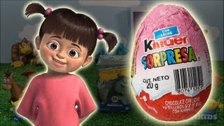 Monsters inc disney movie funny toy, cute boo in a kinder surprise egg (SC4K)