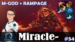 Miracle - Ember Spirit Safelane | M-GOD + RAMPAGE 7.15 Update Patch | Dota 2 Pro MMR Gameplay #54