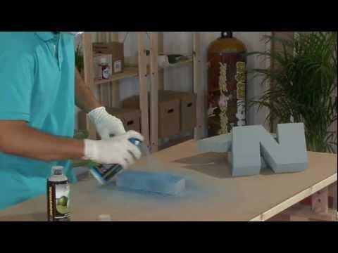 Tutorial: Cómo pintar letras de Porex (poliestireno) con spray paso a paso
