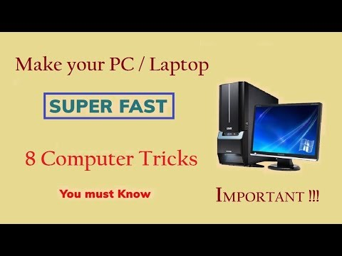 8 useful Tricks & Tips to make your Computer / Laptop faster - You must know (100% Working)