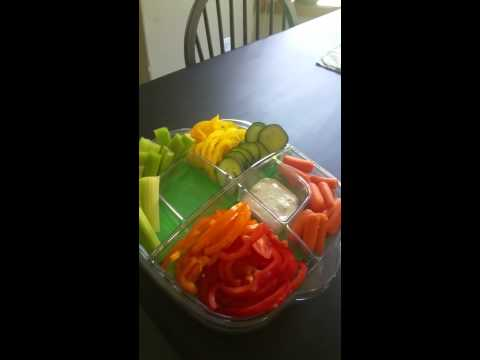 Pampered Chef Cool n Serve Tray Summer Veggies