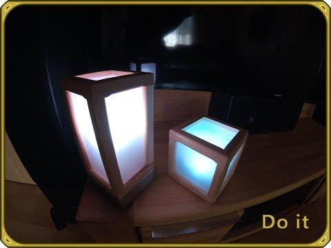 diy led holz beton lampe nachttischlampe schreibtischlampe selber bauen holzwurmtomchallenge2017. Black Bedroom Furniture Sets. Home Design Ideas