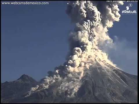 Colima Volcano Mexico Eruption Caught on Webcam