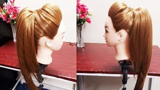 MESSY HIGH PONYTAIL WITH PUFF HAIRSTYLE | DIY EASY HAIRSTYLE FOR COLLEGE/WORK/PARTY