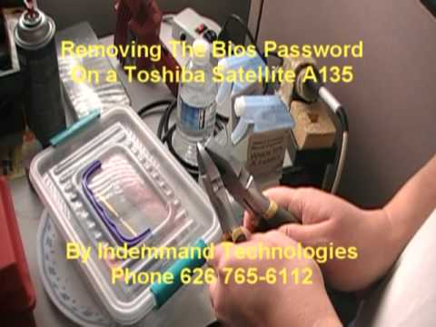 Toshiba Satellite A135 Bios Password Removal