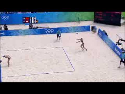 China vs Switzerland - Women's Beach Volleyball - Beijing 2008 Summer Olympic Games