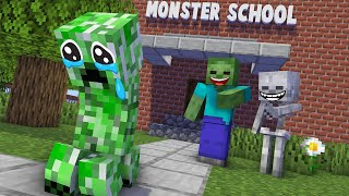 Monster School : POOR CREEPER SAD STORY NEW - Minecraft Animation