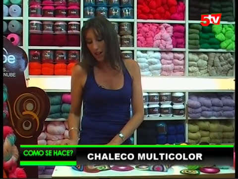 Chaleco Multicilor por Mariela Alasia