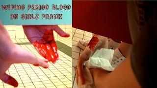 Wiping Period Blood on Girls Prank : Bathroom Prank Gone Wrong