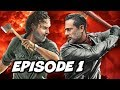 Walking Dead Season 8 Episode 1 All Out War TOP 10 WTF And Easter Eggs mp3
