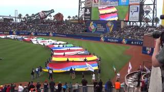 ▶ World Baseball Classic Orchestra, Flag unfurling, teams take field @ ATT Park Final Game 3 19 13