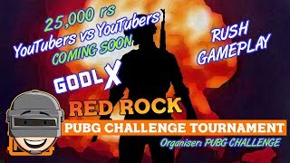 PUBG MOBILE LIVE : SEASON END CUSTOM ROOM RUSH GAMEPLAY    GODL RED ROCK