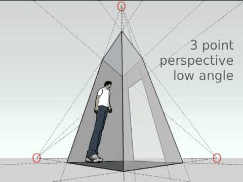 1 2 3 point perspective youtube for Exterior 1 point perspective