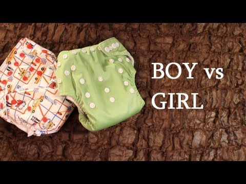 Cloth Diapering Girls Vs. Boys Unwrapped video