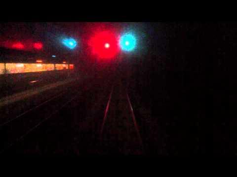 Cabinerit Amsterdam - Utrecht. 's ochtends in het donker en in de mist, passage Breukelen