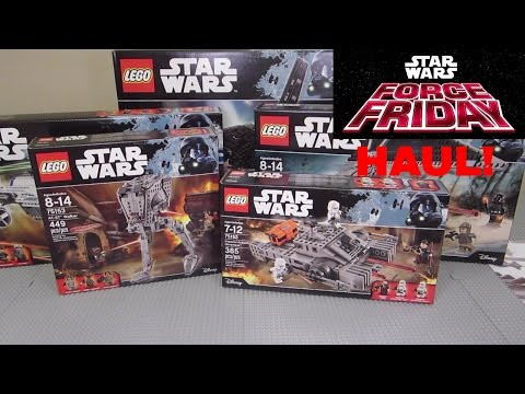LEGO Rogue One FORCE FRIDAY HAUL! Awesome LEGO Toy Haul From Toys R' Us! (Hot NEW LEGO Sets!)