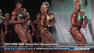 2013 IFBB PBW Tampa Pro Championships Finals - Women's Bodybuilding 1st Callout (Excerpt)