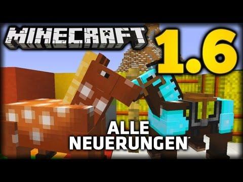 Minecraft 1.6 - ALLE NEUERUNGEN! (The Horse Update: Pferde, Esel, Teppiche, Name Tag)