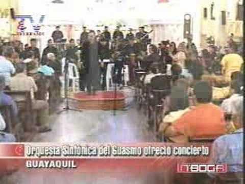 Orquesta Sinfónica del Guasmo ofreció concierto