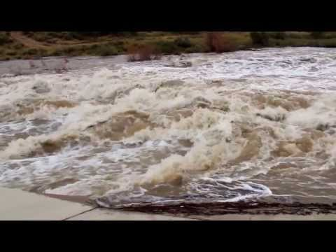 Flash Flooding On Callaway Dr. Carlsbad, NM. 9 12 2013