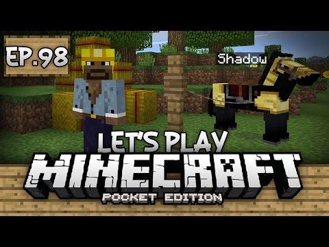 Survival Let's Play Ep. 98 - AUTO COCOA BEAN FARM & NAMING HORSES!!! - Minecraft PE (Pocket Edition)