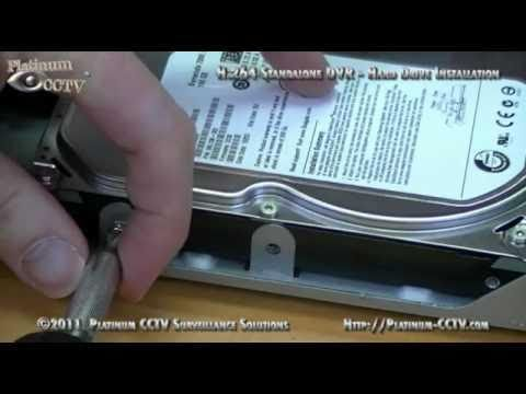 Install Hard Drive For Recording Dvr 7004 H 264
