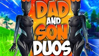 Duos With My 10-Year-Old Son In Fortnite Battle Royale (Tabor Hill and NolanSuperSaiyan Duos)