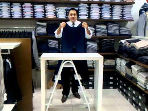 Como dobrar calças