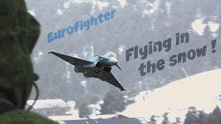 Eurofighter flying in a SNOWSTORM !! - HD 50fps