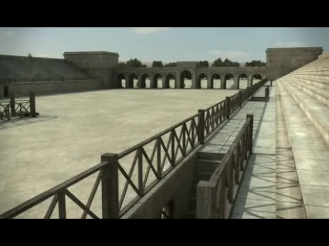 Hipodromo / Circo Romano, Gerasa, 3D / Virtual Hippodrome, Jerash