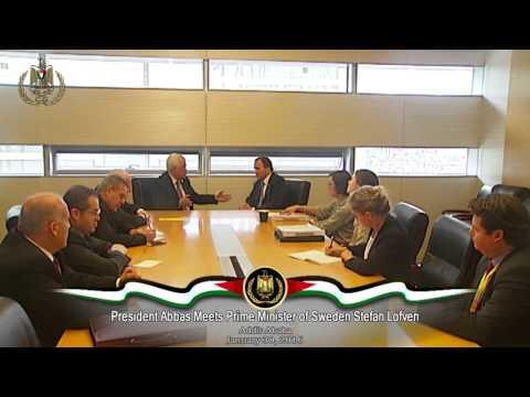 President Abbas Meets Prime Minister of Sweden Stefan Lofven